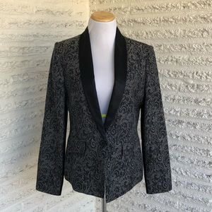 BCBGeneration Black and Silver Damask Blazer
